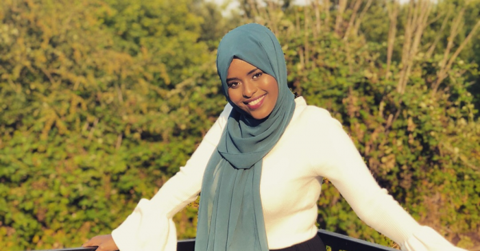 Head shot of an AYCO staff member, Muna Yusuf